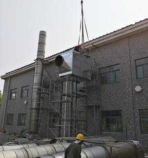 15吨燃气锅炉余热回收安装现场 (3)