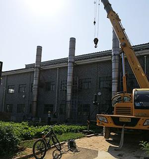 15吨燃气锅炉余热回收安装现场 (4)